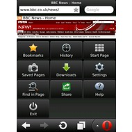 Скриншот Opera Mini (BlackBerry) 7.1.3.3