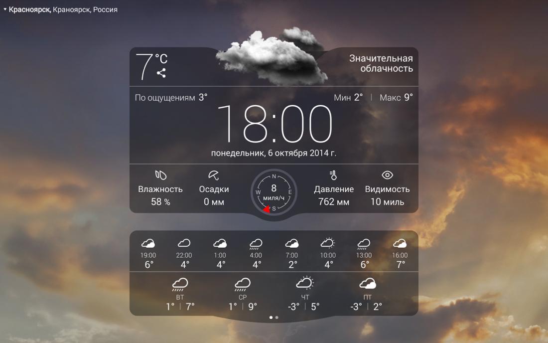 скачать погоду бесплатно на андроид