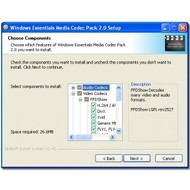 Скриншот Windows Essentials Codec Pack