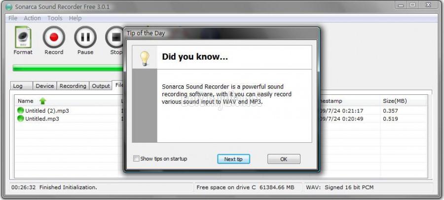 Скачать программа free sound recorder