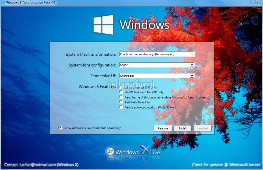 Сексуальный визуальный стиль для windows7