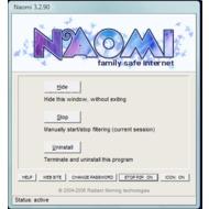 окно управления программой