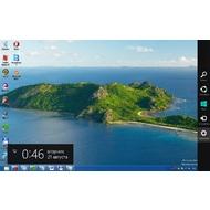 Скриншот Windows 0 Release Preview - бокавая панелька из настройками кнопкой переключения в среде интерфейсами. Обычный интерфейс Windows