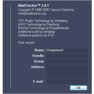 Скриншот MadTracker