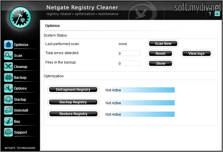 Cкачать NETGATE Registry Cleaner v3.0.805.0 + Rus.