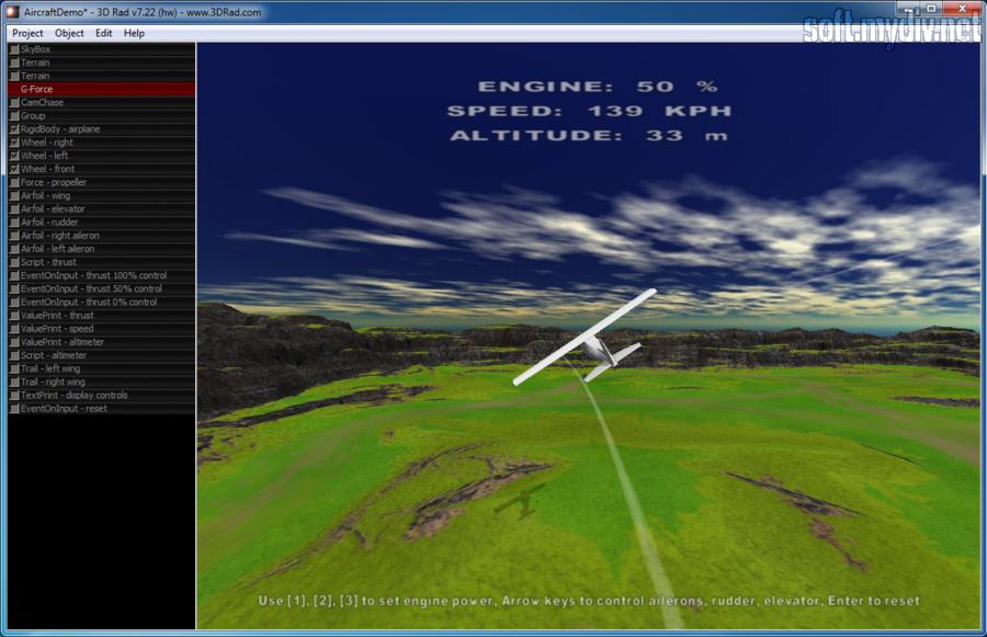 Как создать самолет в 3d rad