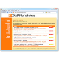 Скриншот Portable XAMPP