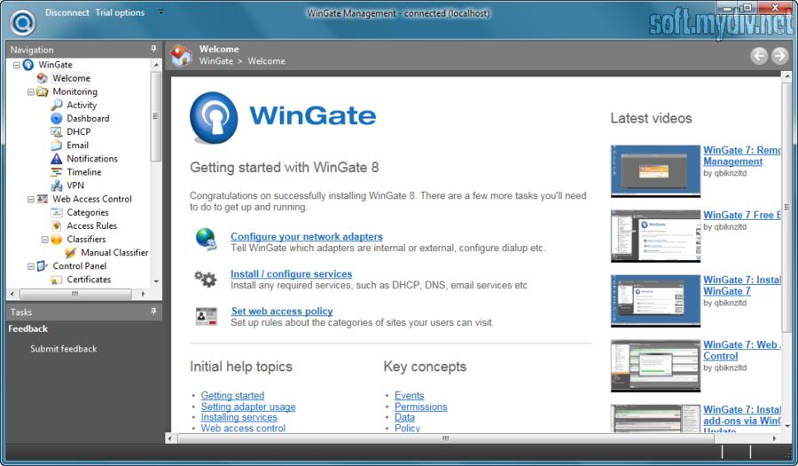 WinGate Скриншот #1.