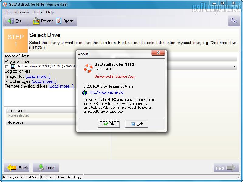 Getdataback for ntfs лицензионный ключ