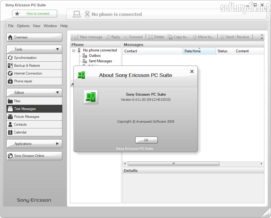 Скачать программу pc suite для sony ericsson