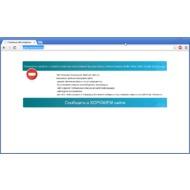 Скриншот Интернет Цензор - пример заблокированного сайта