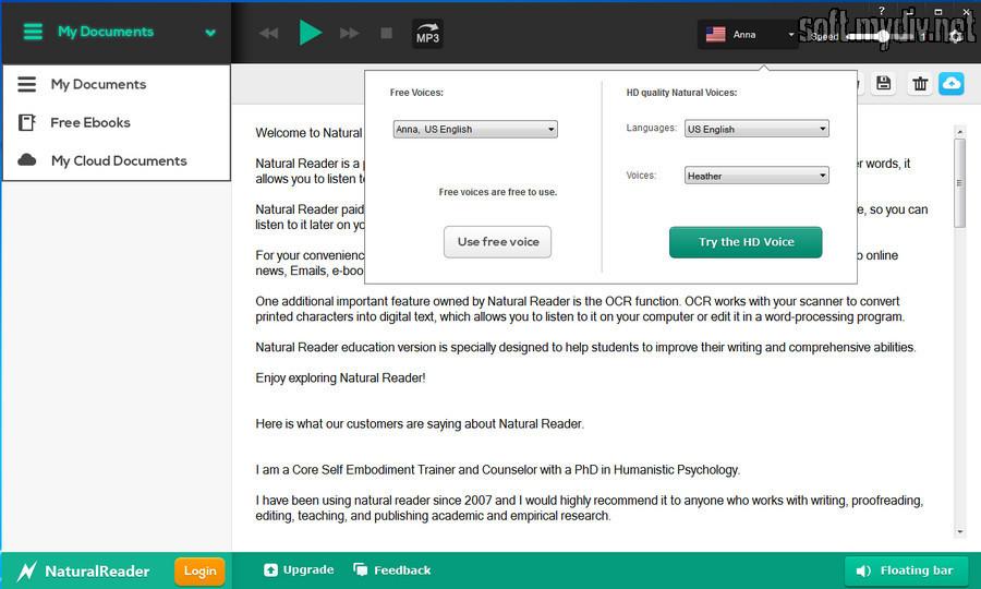 Программа которая воспроизводит текст голосом скачать бесплатно