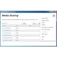 Главное окно TVersity Media Server