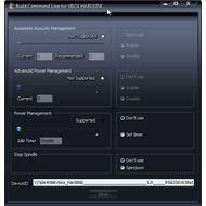 Скриншот HDDScan - встроенная командная строка