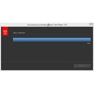 Скриншот Adobe Flash Player - процесс инсталляции займет несколько секунд