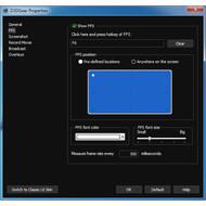 Настройки FPS в D3DGear