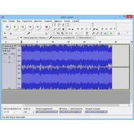 Скриншот Audacity - главное окно программы, редактируйте звук с помощью волновой формы