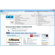 Скриншот Internet Explorer - главное меню браузера и его элементы