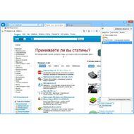 Скриншот Internet Explorer - панель избранного контента