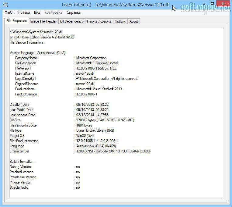 скачать программу msvcr120 dll