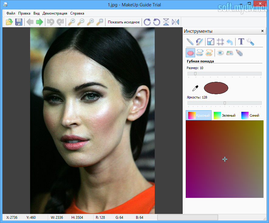 Виртуальный макияж в i сделать на своем