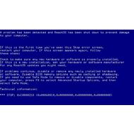 Сообщение BSOD о критической ошибке