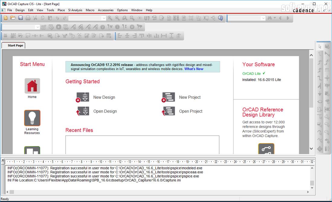 Скриншоты программы OrCAD