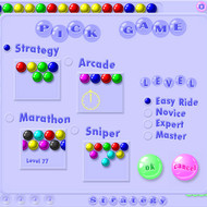 Игровые режимы, выбор уровня сложности