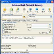 Скриншот Advanced RAR Password Recovery 4.54.50