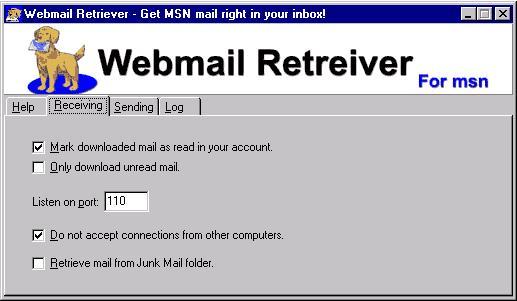 Webmail Retriever for MSN 2.1.2